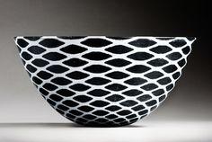 Ane-Katrine von Bülow. Copenhagen, Denmark.  black & white ceramic bowl