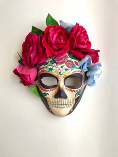 c0370867afe2 25 Best Day of the Dead Mask images | One day, Day of the dead mask ...
