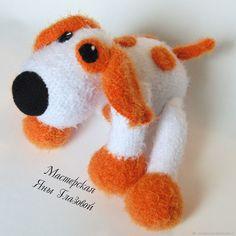 Купить Песик (символ года 2018) - собака, игрушка, белый, рыжий, песик, вязаная игрушка