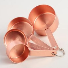 Stylish and functional, these coper measuring cups are a must-have for your kitchen.