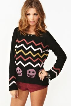 Esqueleto Knit. im tired of the skulls but this is the last exception