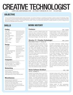 Creative resumes and CVs
