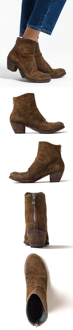 Officine Creative Godard Suede Bootie in Light Sigaro Brown | Santa Fe Dry Goods & Workshop #officinecreative #suede #leather  #handmade #boots #booties #bootie #shoe #italian #fashion #style #clothing #santafe #santafedrygoods