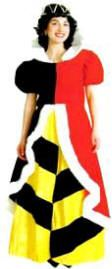 Queen of Hearts Costume #T7758.  Click the image for descriptions, prices, availability and ordering information.  All costumes are for sale or rent unless otherwise noted.  We ship worldwide, Monday through Saturday.