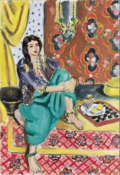 Seated Odalisque by Henri Matisse. .. My favorite by him.  I have the art exhibit print... @)}>~%~~Rose Marie Toledo, 505, NM.