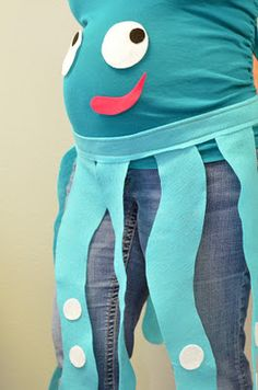 This octopus belly pregnancy costume is too cute. BabyBump - the app for pregnancy - babybumpapp.com