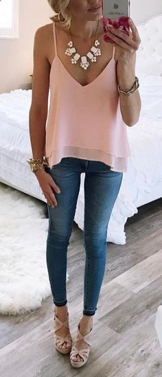 cool outfit idea top skinnies