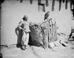 A Zuni boy with an eagle cage. Eagles were raised for ceremonial feathers.Taken by John K.Hillers at Zuni Pueblo, New Mexico in the winter of 1879. The North American Indians in Early Photographs - Paula Richardson Fleming and Judith Luskey (Art Photo eBook) page 148. http://fr.scribd.com/doc/246668091/The-North-American-Indians-in-Early-Photographs-Art-Photo-eBook#scribd   cage made of sticks and rammed clay.