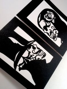 Sugar Skull Day of the Dead Layered Papercut 5x7 by MinksPaperie, $25.00