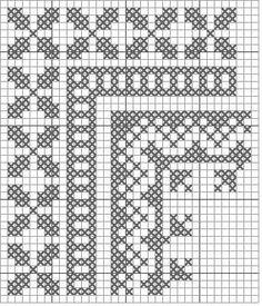 Cross Stitch Art, Cross Stitch Borders, Cross Stitch Designs, Cross Stitching, Cross Stitch Embroidery, Cross Stitch Patterns, Filet Crochet, Crochet Borders, Crochet Patterns