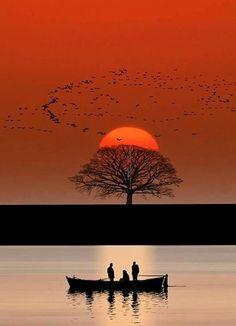 Peeking sunset...!