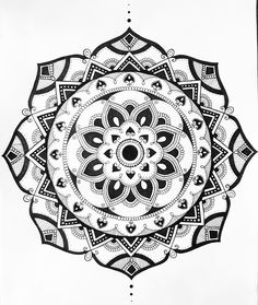 Selfmade mandala. #mandala #design #mandalas #art #passion #mindfulness #fineliner #drawing #tattoo #round