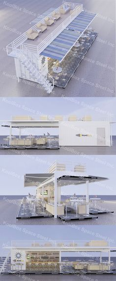 2016 latest shipping container sandbeach coffee shop/bar , hydraulic system mobile container coffee bar/shop for sale, View container bar, KoolBox Product Details from Guangzhou Phenix Imp. & Emp. Co., Ltd. on Alibaba.com Container Home Designs, Shipping Container Design, Shipping Containers, Container Architecture, Container Buildings, Container Coffee Shop, Container Cafe, Building A Container Home, Container House Plans