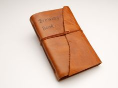 Hand-made Leather Brewing Journal to keep track of your home brewing recipes from BeerLoved. Makes a great gift for any craft beer homebrewer.