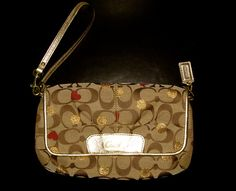 'COACH SECRET ADMIRER LARGE FLAP WRISTLET #F46934 ' is going up for auction at  2pm Sun, Oct 6 with a starting bid of $1.
