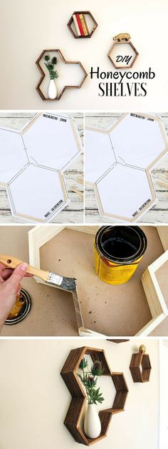 Check out the tutorial: #DIY Honeycomb Shelves