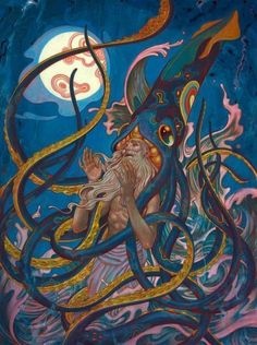 Octopus Art, Psychedelic Art, Monster, Surreal Art, New Art, Art Inspo, Art Reference, Science Fiction, Fantasy Art