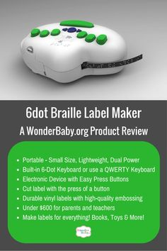 We review the 6dot Braille Label Maker and look at its features and functions.