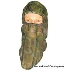 Jack Pyke Of England Lightweight Mesh Balaclava - English Woodland Elasticated face surround balaclava with a face veil that can be worn up or down