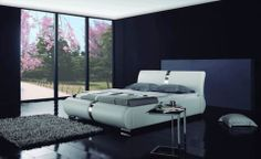 The Polar bed is pure, sleek and sophisticated. It's smooth full genuine leather exudes quality and class. It's a focal point in any bedroom.  Features:  Full Genuine Leather Classic styling with upscale quality Upholstery: Genuine leather Inner frame constructed of kiln-dried hardwood Slatted platform base Includes Serta Mattress No box spring required