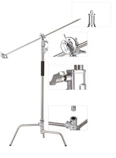 160.55$  Buy here - http://alizce.worldwells.pw/go.php?t=32639570165 - Pro heavy duty Studio Centry C Stand Detachable Light C-stand +gobo Arm+line Resizer For Flash Strobe Flag Reflector 160.55$