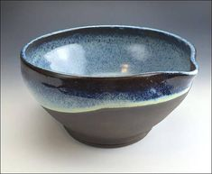 Hey, I found this really awesome Etsy listing at https://www.etsy.com/listing/574809873/large-ombre-blue-mixing-batter-bowl-many