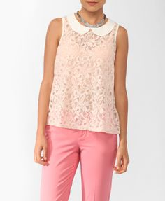 Forever 21 Peter Pan Collar Lace Top |  $17.80