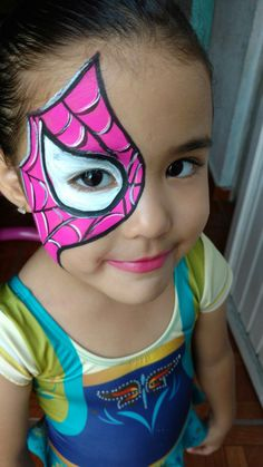 Superhero Face Painting, Face Painting Unicorn, Girl Face Painting, Belly Painting, Face Painting Designs, Painting For Kids, Maquillage Halloween, Halloween Makeup, Halloween Face