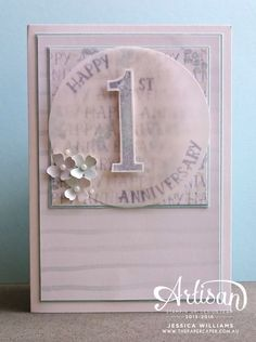 Stampin' Up! Number of Years stamp set and framelits I Anniversary card I Global Design Project