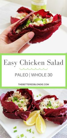 Easy Chicken Salad - Paleo/Whole 30 - The Bettered Blondie #paleo #whole30 #glutenfree