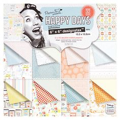 """Buy Docrafts Papermania Happy Days Designstax, Pack of 48, 6 x 6"""" Online at johnlewis.com"""