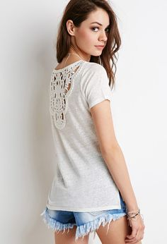 Crochet-Paneled Top | Forever 21 Canada