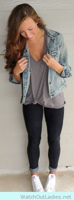 Cute and simple ideas with denim jackets