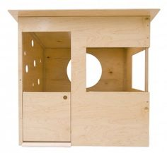 Wedge playhouse, from modern-playhouse.com #design #kids #playhouse