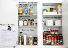 Organized kitchen tips