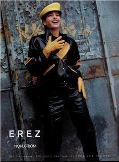 1989 EREZ Leather : Michaela Bercu 4-pg Print Ad
