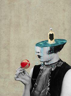 L'artiste suisse Julia Geiser réalise des collages d'images avec des motifs géométriques et une ambiance vintage.