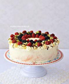 "Tort ""Owocowy Raj"" Raj, Cheesecake, Berries, Birthdays, Cooking Recipes, Foods, Cakes, Photography, Dresses"