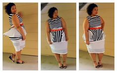 Garnerstyle in Jibri Peplum Striped Dress