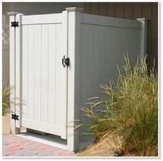 outdoor showers | Sunshine Outdoor Showers | Maintenance Free Vinyl Outdoor Shower ...