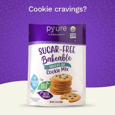 Great cookie taste and texture without all the sugar, calories or carbs. Buy now on Amazon. Sugar Free Baking, Sugar Free Treats, Sugar Free Desserts, Sugar Free Recipes, Low Carb Desserts, Organic Chocolate, Sugar Free Chocolate, Chocolate Chip Cookie Mix, Sugar Calories