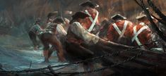 Assassin's Creed III Art & Pictures  British Soldiers Landing