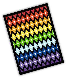 Rainbow Lozenges Hexadoodle pattern on Craftsy.com