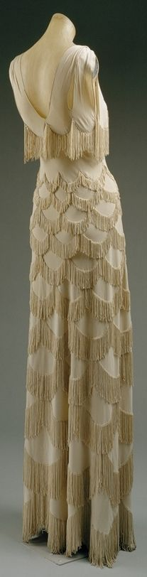 Evening dress. Spring/Summer 1938. Madeleine Vionnet (French, Chilleurs-aux-Bois 1876–1975 Paris)