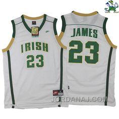 http://www.jordanaj.com/lebron-james-irish-high-school-23-white-jersey.html LEBRON JAMES IRISH HIGH SCHOOL #23 WHITE JERSEY Only $79.00 , Free Shipping!