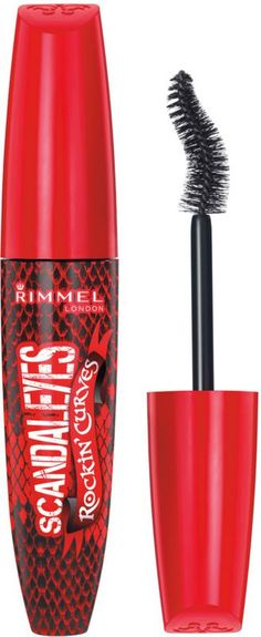 Rimmel's Scandal Eyes Rockin Curve Mascara has a broken heart-shaped brush that creates big, curvy, rockin lashes! Rimmel's new brush twists and curves to hug your lashes to give you the volume and curve..