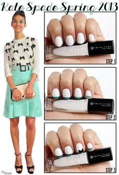 Designer Nails: Kate Spade's Bow Nails