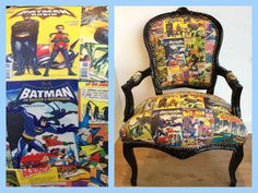 1000 Images About Comic Book Furniture On Pinterest Comic Books Decoupage Table And Furniture