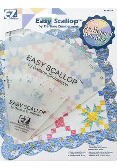 "[EZ Quilting Easy Scallop Tool: EZ Quilting : Sewing and Quilting Tools at Simplicity.com] 8823754 EZ Quilting Easy Scallop Tool EZ Quilting Easy Scallop Tool makes scalloped borders from 4"" to 12"". Use in sewing & scrapbooking to make easy semicircles. $17.29"