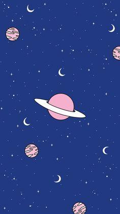 24 ideas for illustration art moon stars Tumblr Wallpaper, Wallpaper Pastel, Wallpaper Space, Aesthetic Pastel Wallpaper, Screen Wallpaper, Cool Wallpaper, Pattern Wallpaper, Aesthetic Wallpapers, Planets Wallpaper